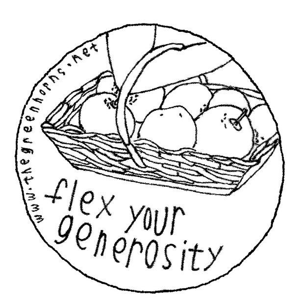 GH.stickers.flex your generosity.art.brk